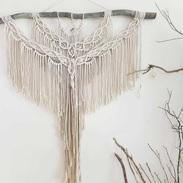 Boho macrame wall hangings
