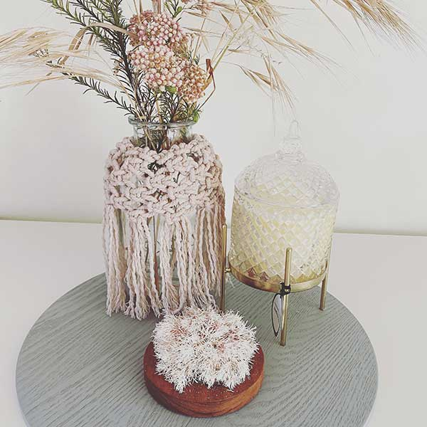 Designer macrame basket and planter wraps