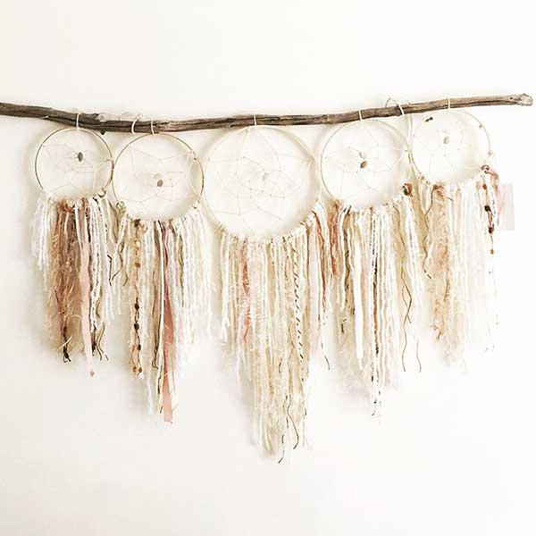 Natural bohemian dream catchers