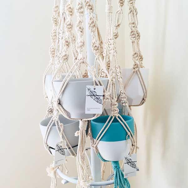 Chic macrame plant hangers